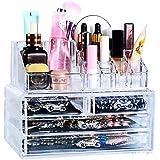 MJARTORIA Acryl Kosmetik Organizer Make Up Aufbewahrung Ordnungsständer Schubladenbox 4 Stücke Sortierkasten