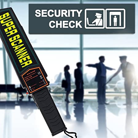 Elenxs Detector de Metales de Mano Detector Profesional Super escáner Buscador de Herramientas Detector de Control de Seguridad: Amazon.es: Hogar