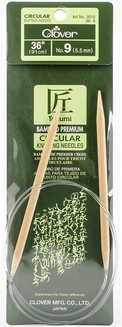 Size 4 Clover Takumi Bamboo Circular 36-Inch Knitting Needles