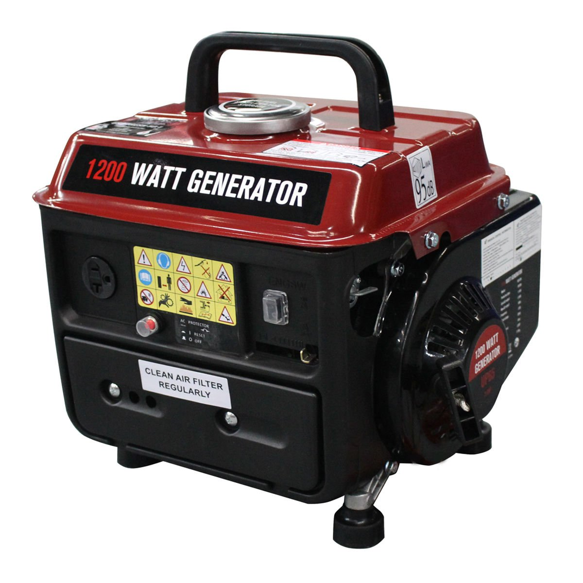 Goplus 1200 Watt Gasoline Portable Generator Gas Powered 2 Stroke 63cc Single Cylinder W/ Air Cooling System EPA Approved by Goplus