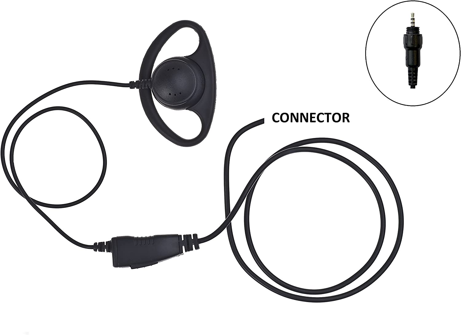 Impact 1-Wire Headset Earpiece with D-Ring for Motorola SL Series Radios