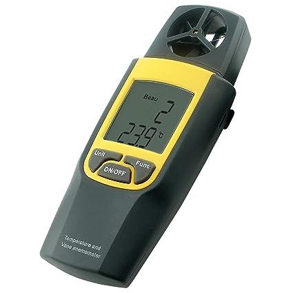 Anemómetro Digital De Paletas Termómetro 4000 Fpm Velocidad Del Viento Velocidad Mph M / S Genérico