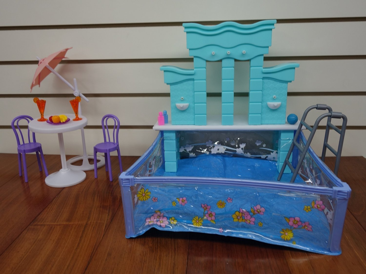 amazoncom barbie size dollhouse furniture water fountain swimming pool play set toys games amazoncom barbie size dollhouse