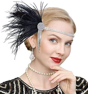 1920s Headpiece Flapper Crystal Hairband Great Gatsby Headband Headwear