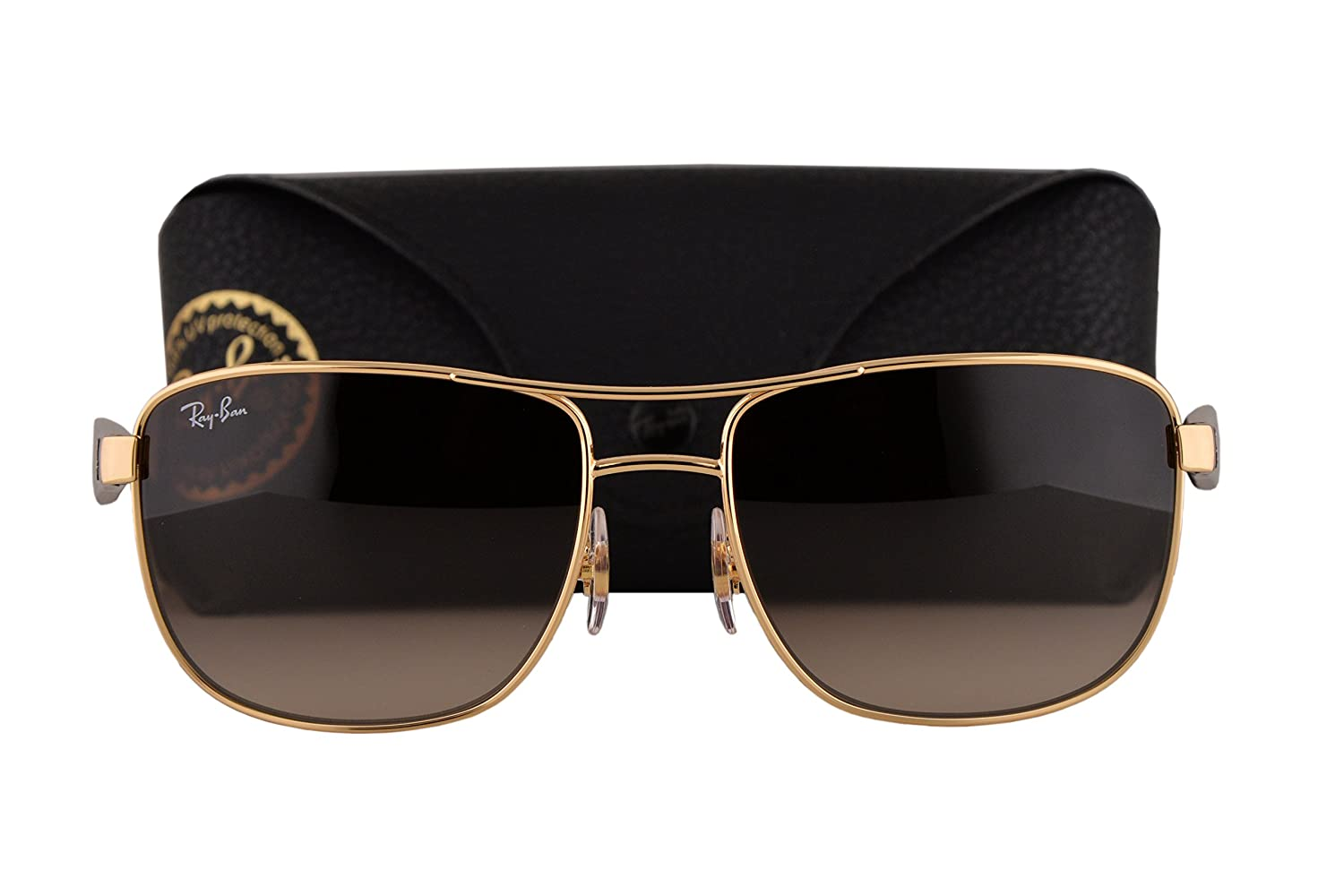 c2a867d8fa Ray Ban RB3533 Sunglasses Gold w Brown Gradient Lens 00113 RB 3533   Amazon.co.uk  Clothing