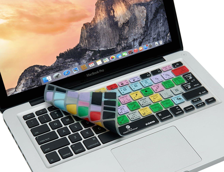 US//European ISO Keyboard Retina XSKN Adobe Photoshop CC Shortcuts Silicone Keyboard Skin Hotkeys PS Keyboard Cover for MacBook Air 13 /& MacBook Pro 13 15 17