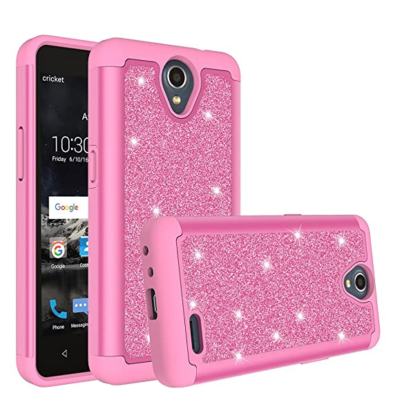 hot sale online b2aca 112a0 GALAXY WIRELESS Compatible For ZTE Maven 3 Case,ZTE Overture 3 Case,ZTE  Prelude Plus Case Glitter Bling Hybrid with [HD Screen Protector] ZTE Maven  ...