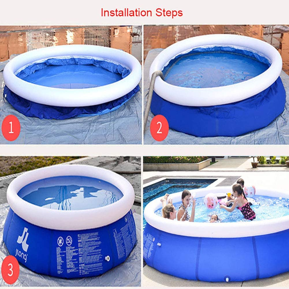 GonbObcxggr Inflatable Lounge Pool for Family Swimming Pool Home Garden Travel Portable Tubs Pools Paddling Pool 180 * 51CM