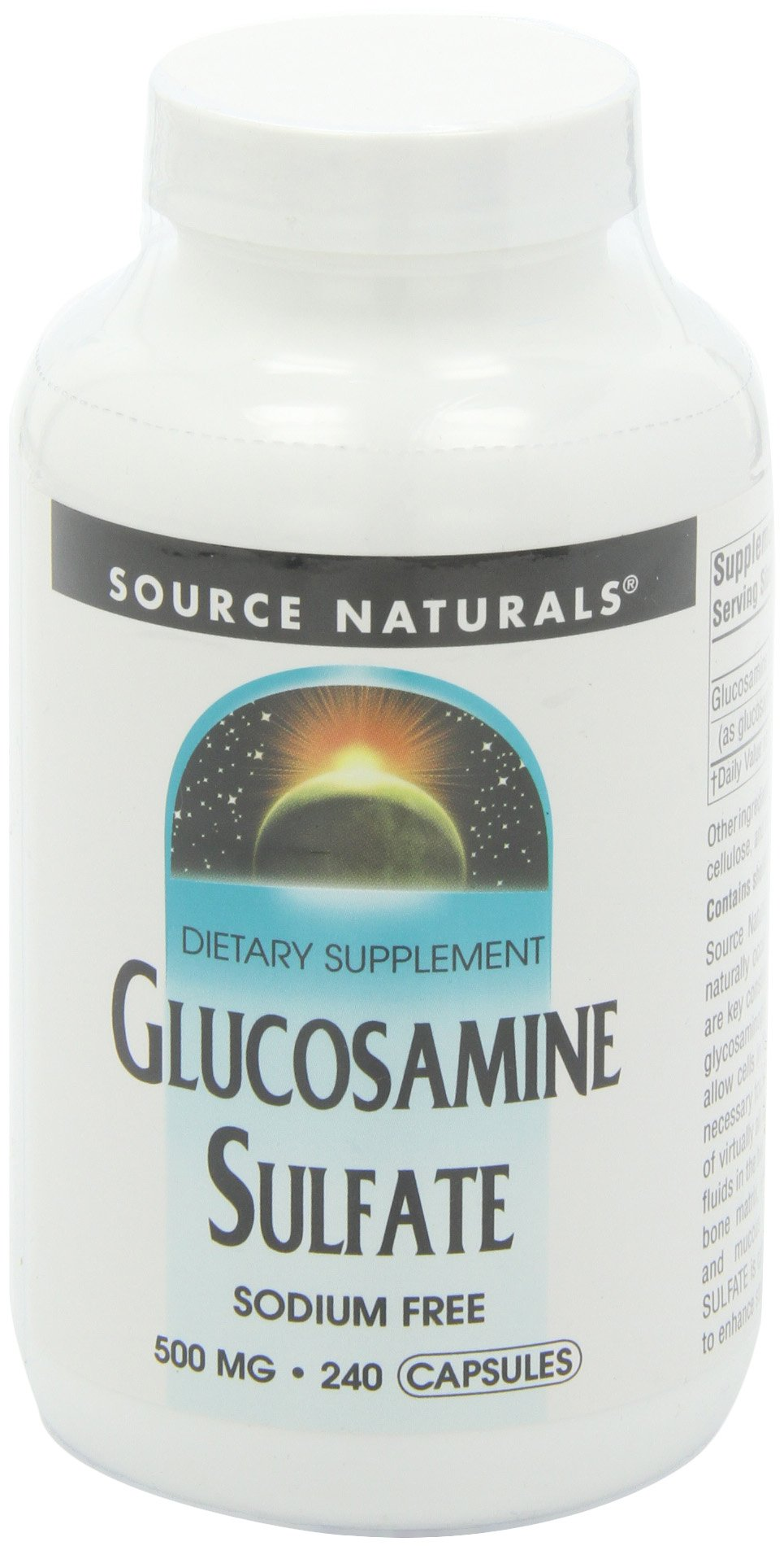 Source Naturals Glucosamine Sulfate 500 Mg, The Nutritional Building Block of Healthy Cartilage, 240 Capsules