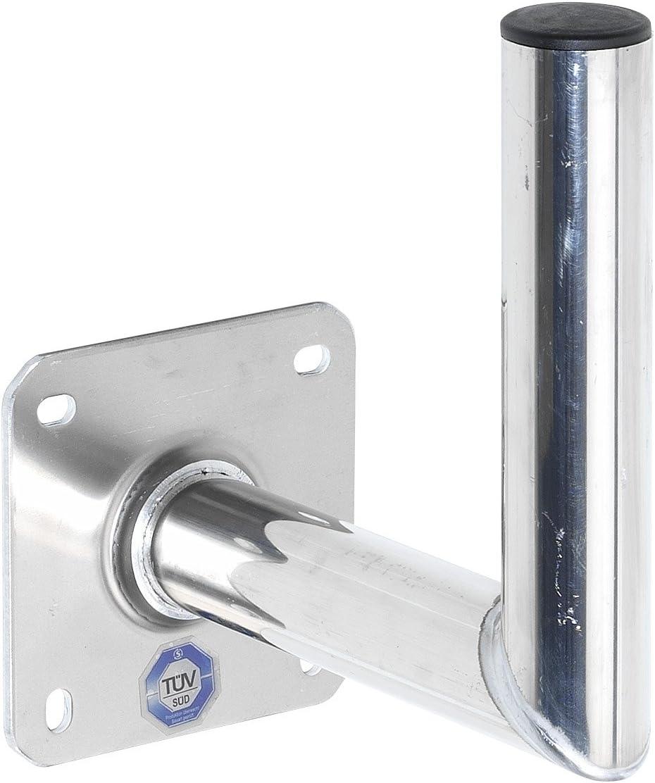 Wandabstand 25 cm, Rohr Silber Vivanco STM WH25 Wandhalter f/ür Aluminium Parabolantennen