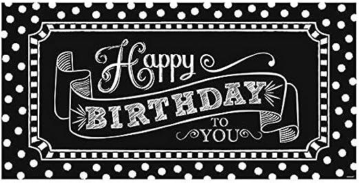 Amazon.com: Clásico Blanco y Negro Fiesta de cumpleaños ...