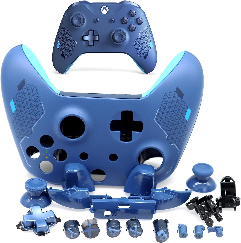 Deal4GO - Carcasa de Repuesto para Mando de Xbox One Slim Modelo 1708 Sport Blue Special Edition: Amazon.es: Electrónica