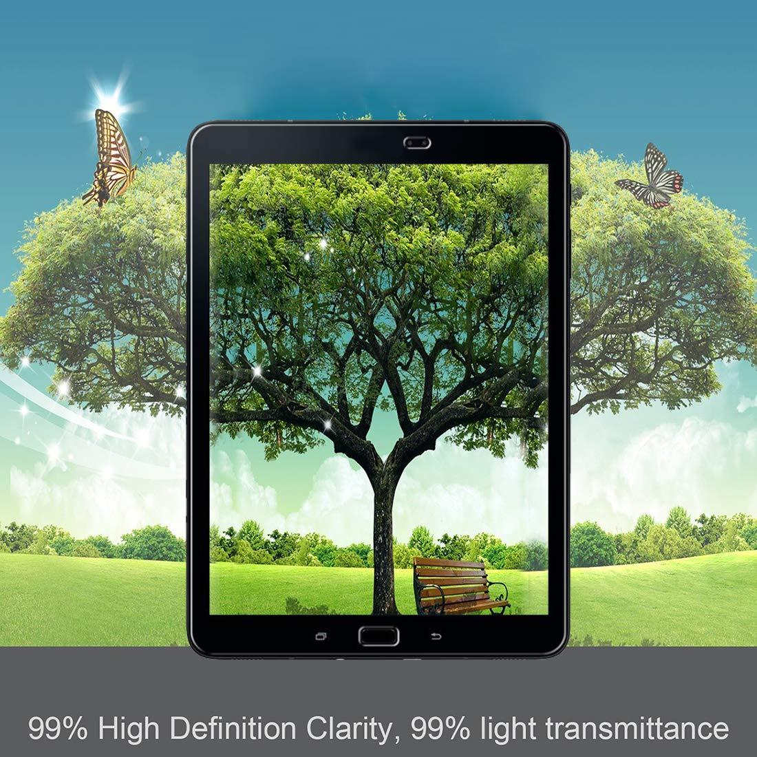3 Unidades iVoler Sin Burbujas Anti-Ara/ñazos Protector de Pantalla Compatible con Samsung Galaxy Tab S3 9.7 Pulgadas // S2 9.7 Pulgadas Cristal Vidrio Templado Premium Dureza 9H