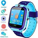 Smartwatch Niños Reloj Inteligente para Niños LBS Tracker Pantalla Táctil Llamada SOS Juguete de Regalo de Cumpleaños…