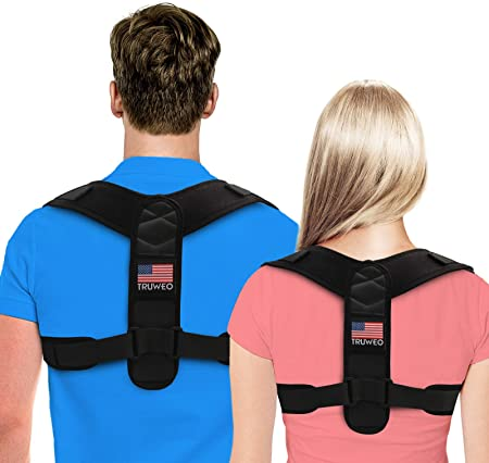back facing truweo posture corrector for men And women