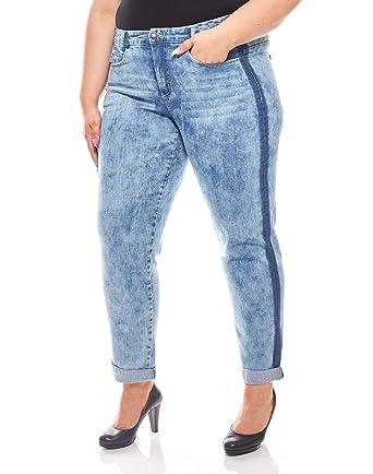 bc92ab01e09e68 Sheego Trend-Jeans mit seitlichem Streifen verwaschen Denim Große Größen  Blau, Größenauswahl:48