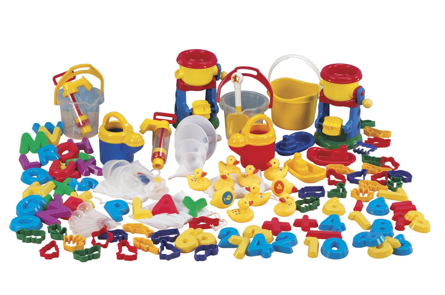 Childcraft Sand and Water Toys Play Package, Assorted Colors, 99 Pieces by Childcraft