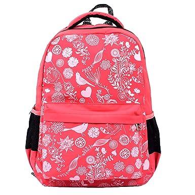 Children Backpack for Girl Primary Student School Bag Kid Grade 1-6 Floral Print