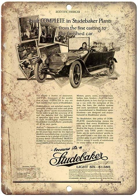 Studebaker Light Six Póster De Pared Metal Retro Placa ...