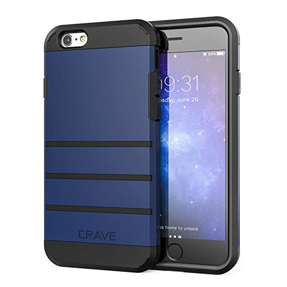 more photos f3d7a a194e Crave iPhone 6S Case, iPhone 6 Case, Strong Guard Protection Series Case  for Apple iPhone 6 6s (4.7 Inch) - Navy