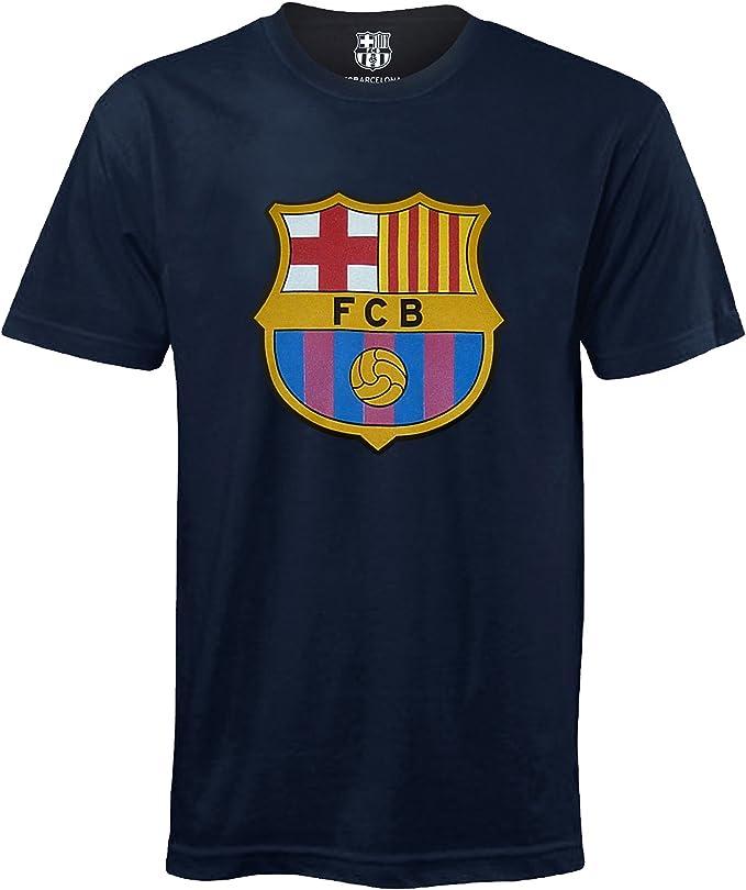 Fc Barcelona Camiseta Oficial Para Ninos Con El Escudo Del Club Amazon Es Ropa Y Accesorios