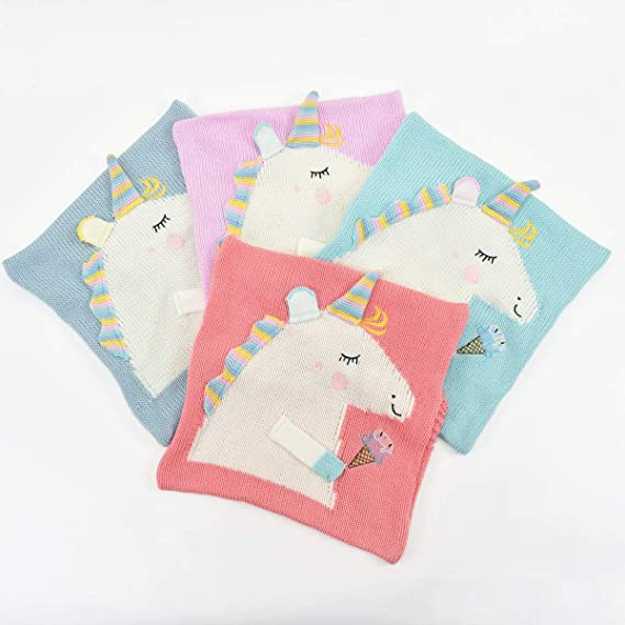 Xiaowli Funda de Almohada de Unicornio Decorativa de algodón ...