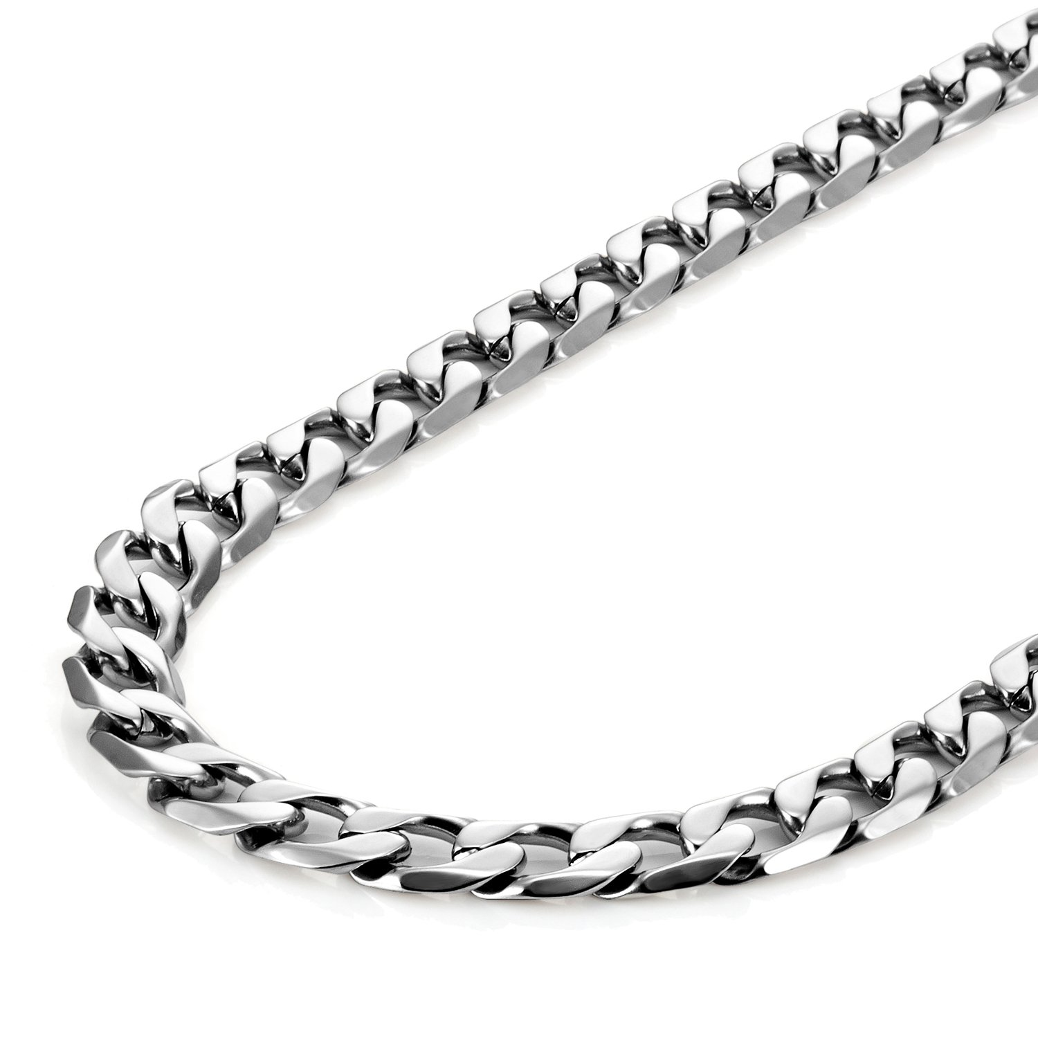 Urban Jewelry Classic Mens Necklace 316L Stainless Steel Silver Chain Color 18,21,23 6mm
