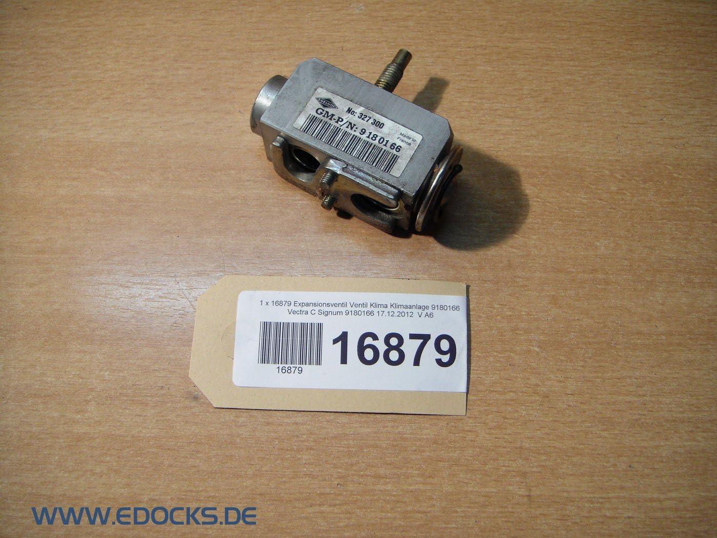 Expansionsventil Ventil Klima Klimaanlage 9180166 Vectra C Signum Opel