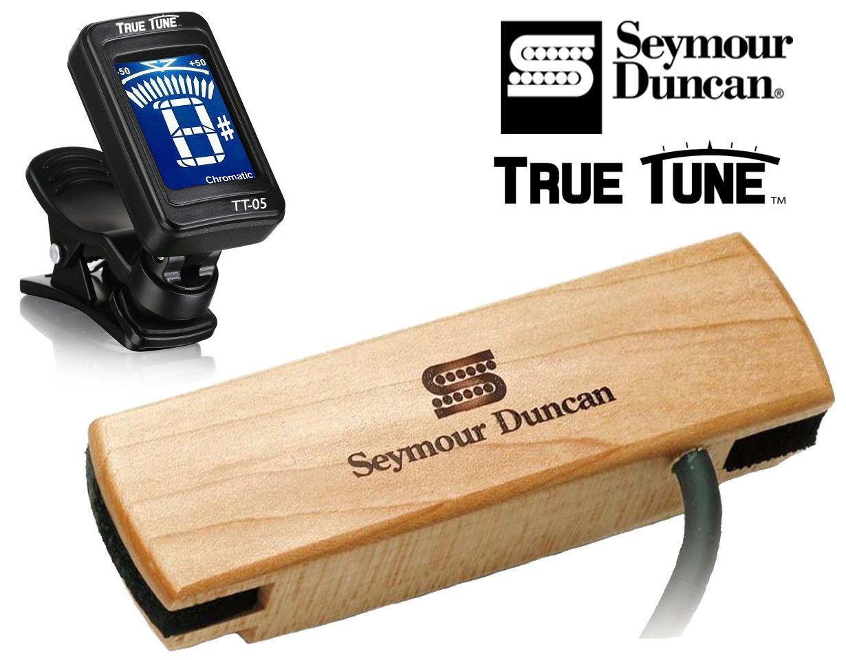 Seymour Duncan SA-3HC Woody HC Hum-Canceling Acoustic Soundhole Pickup True Tune Tuner Bundle 11500-31