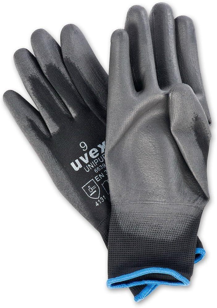 Abrasion-Resistant Handling Work Gloves 2 PAIRS Uvex Unilite Safety Gloves