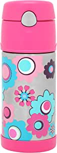 Thermos FUNtainer Insulated Drink Bottle, 355ml, Flower, F4000FL6
