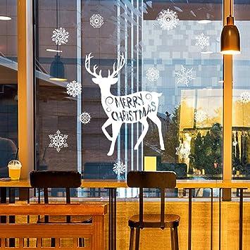 Weihnachtsdeko Weihnachtssticker Abnehmbare Wandsticker Fensterbilder Für  Kinderzimmer Büro Schaufenster ,Neues Jahr Weihnachten Dekoration Wand  Aufkleber