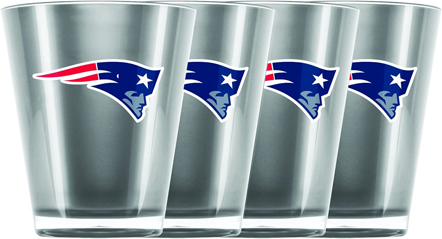 Nfl New England Patriots Insulated Acrylic Shot Glass Set Of 4 Bekleidung