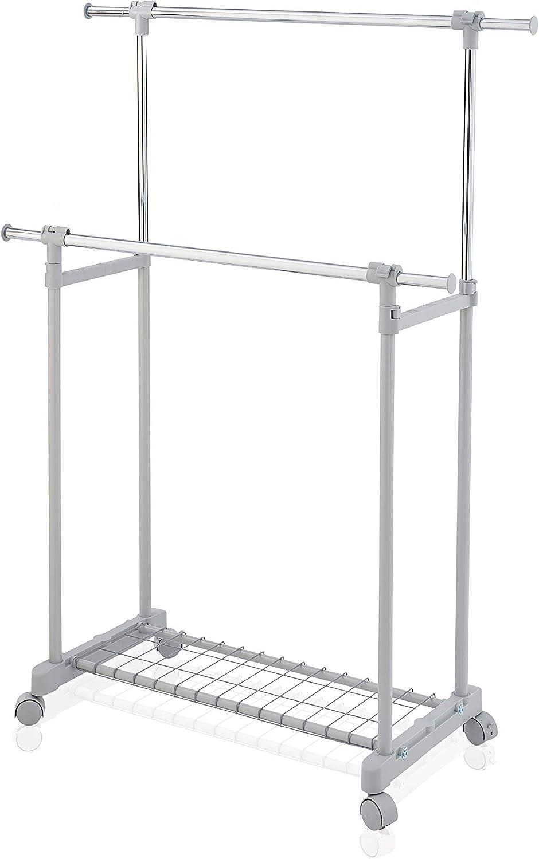 Wäscheständer Mobil Kleiderstange Rollgarderobe Kleiderständer Metall Ständer DE