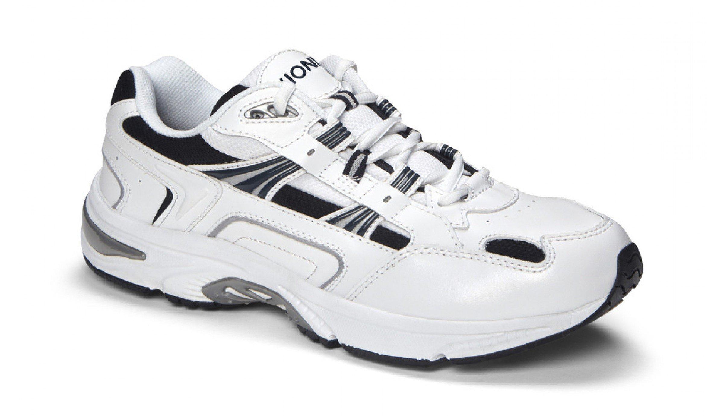 Vionic Men's Men's Walker Shoe White Navy 9 / W & Travel Sunscreen Spray Bundle