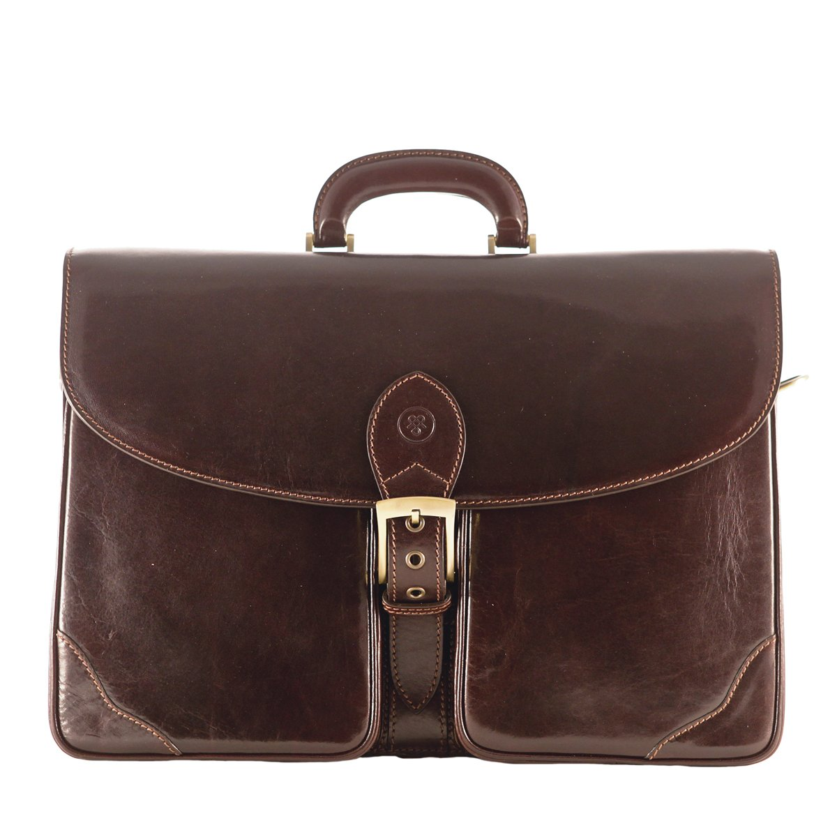 Maxwell Scott Luxury Brown Mens Business Case (The Tomacelli 2 section)