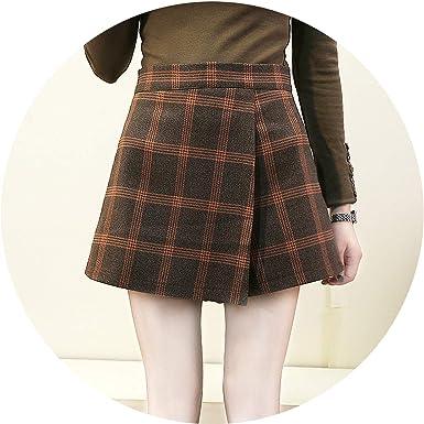 ff42dced8d Ladies Wool Skirts Women Plaid Slim 2019 Korean Fashion Sashes Above Knee Mini  Skirts Empire Shorts Skirts Preppy Summer New at Amazon Women's Clothing ...
