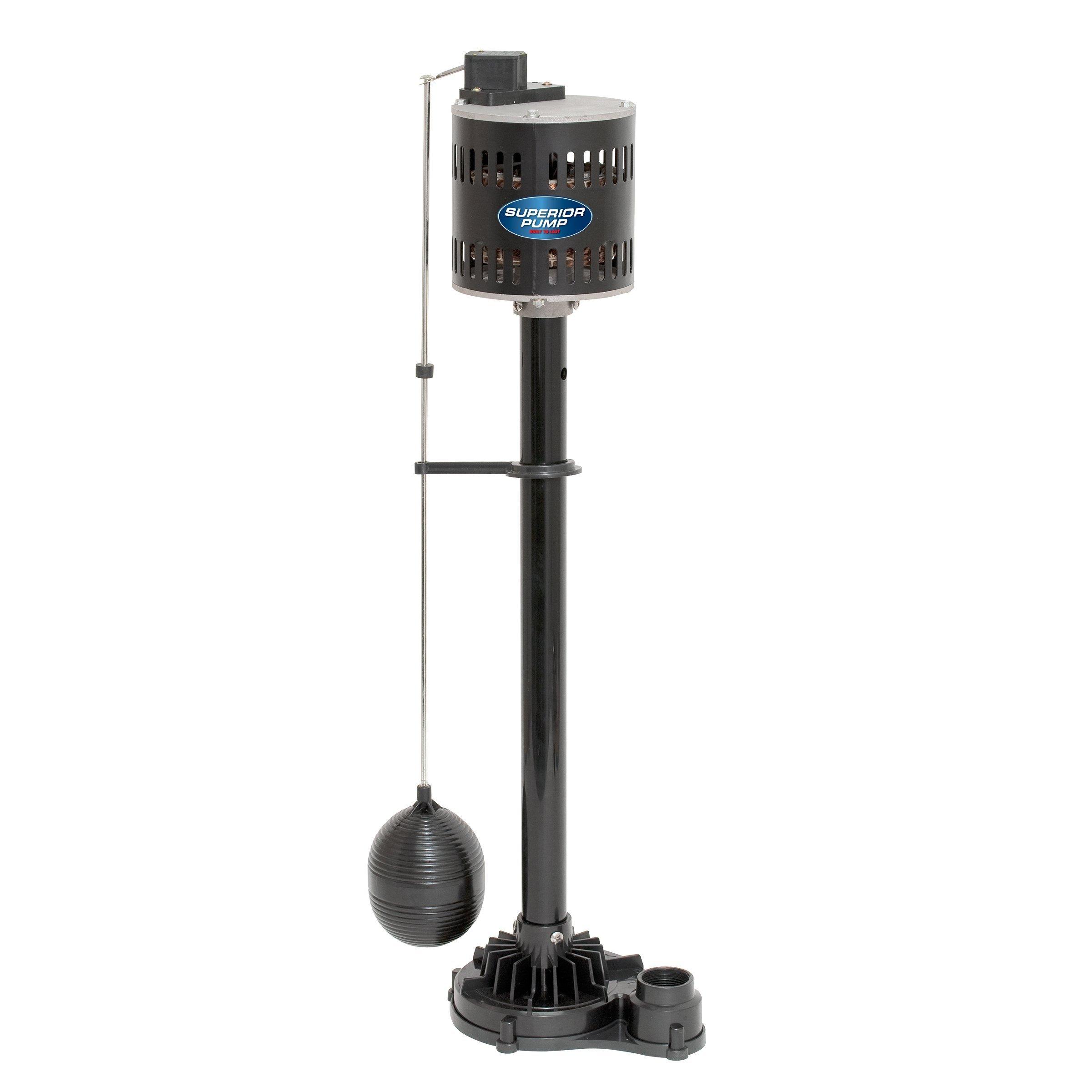 Superior Pump 92333 1/3 HP Thermoplastic Pedestal Sump Pump