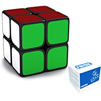 FAVNIC Speed Cube 2X2X2 Magic Cube Puzzle Toy for Kids & Adults (Black)