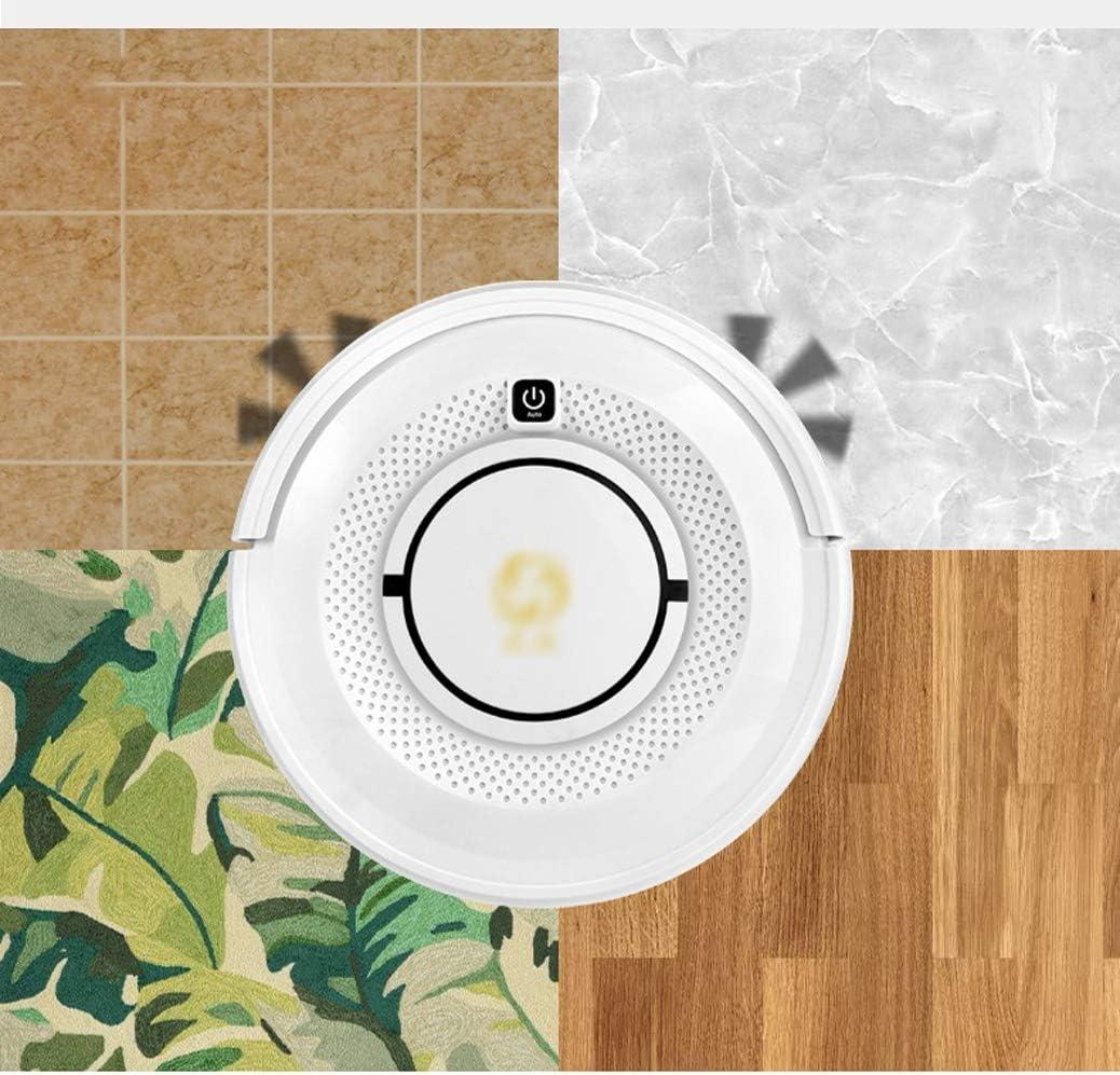 Aspirateur robot laveur 1200 Pa Succion 120 min d'autonomie et jusqu'à 150m² for le nettoyage du pollen, des poils d\'animaux, des tapis, des sols durs (Color : White) White