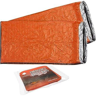 2 Premium Saco de Dormir de Emergencia - Sacos de Vivac, Supervivencia Impermeable Manta - Aislamiento Térmico – Alta Visibilidad, Portátil, Ligero y Resistente| Camping Al Aire Libre Senderismo.