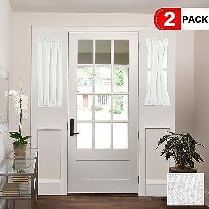 Amazon Hrsailtex White Patio Door Curtain Panels Energy