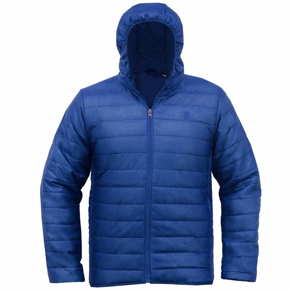 476aae999 Soulstar Men's Hooded Quilted Padded Lightweight Jacket Puffa Coat Size