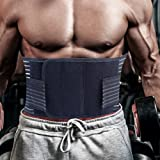 SKILEEN Breathable Waist Trimmer Ab Belt Trainer for Faster Weight Loss,Black Color,M/L/XL Size for Men and Women
