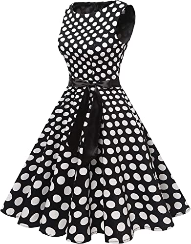 Gardenwed damska sukienka koktajlowa w stylu vintage, lata 50., rockabilly, swing, plisowana: Odzież