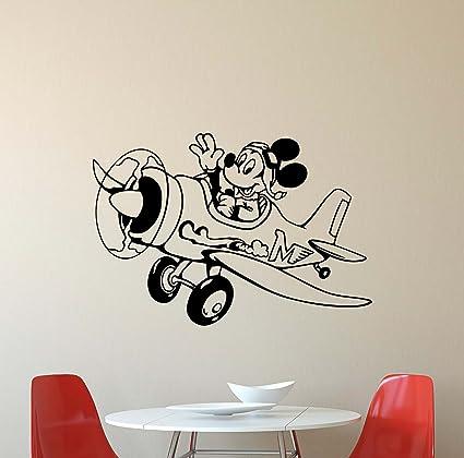 Amazon.com: Mickey Mouse Wall Decal Walt Disney Gift Playroom Vinyl ...