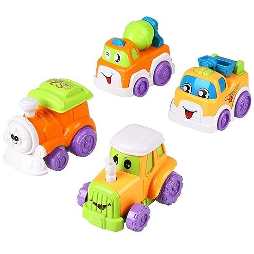 16 opinioni per Peradix Set 4 Macchinine per Bambini Locomotiva Betoniera Trattore Camioncino