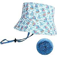 accsa Sombrero de Sol para Niños Plegable Sombreros de Pescador Reversible Sombrero de Cubo Verano de Playa para Bebés…