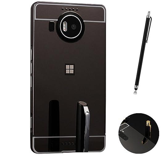 10 opinioni per Microsoft Lumia 950 XL Cover, LXHGrowH Custodia a Specchio per Microsoft Lumia
