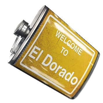 El Dorado Credit Card >> Amazon Com Neonblond Flask Yellow Road Sign Welcome To El